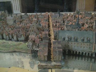 Intricate scale models help visitors visualize the history of Paris