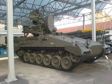 Marder-Roland Tank on display at Conde de Linhares Military Museum