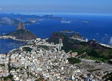 View of Rio and Sugarloaf Mountain from Corcovado