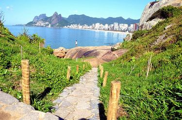 Stone path in Garota de Ipanema Park