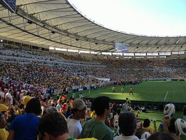 Match between England and Brazil at Maracana Stadium in 2013