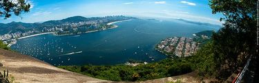 Panoramic view from Morro Da Urca