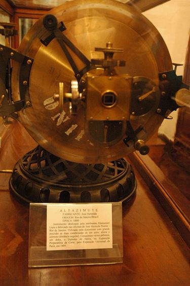 19th Century Altazimuth (an instrument for measuring the position of stars) on display at the Museum of Astronomy in Rio de Janeiro