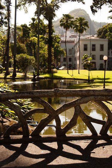 Beautiful grounds behind Museu da República