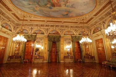 Opulent interior of Catete Palace