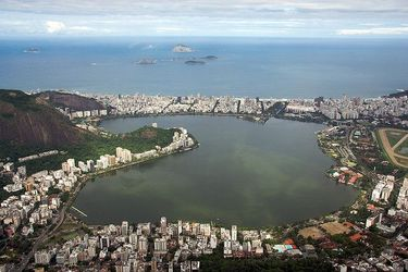 View of Rodrigo de Freitas Lagoon from Corcovado