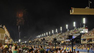 Fireworks at the Sambadrome in Rio