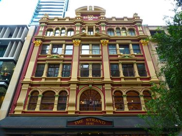 The Historic Strand Shopping Arcade Building on Pitt Street Mall