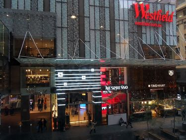 Entrance to Westfield Shopping Centre Pitt Street Mall
