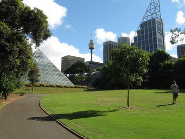 Pyramid Glass House and Tropical Centre in the Royal Botanic Gardens