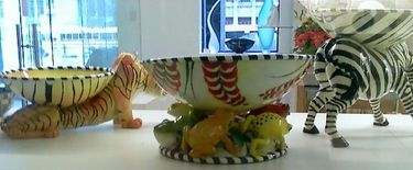 Ceramic Animal Bowls in the Gardiner Museum Gift Shop
