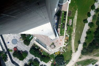 Dizzying Straight Down View Through the CN Tower Glass