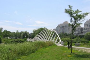 Bridge between East and West Humber Bay Park