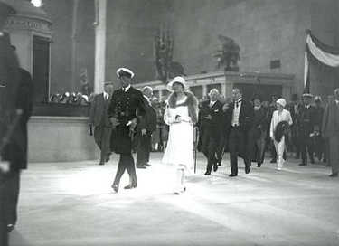 Historic photograph of the Prince of Wales at the official opening of Union Station