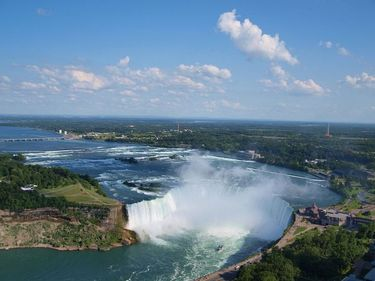 Close up of Niagara Horseshoe Falls
