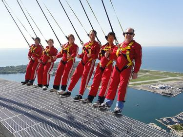 Hanging out over Toronto on the EdgeWalk at the CN Tower