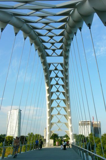 Intriguing design of the Humber Bay Arch Bridge
