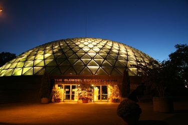 Bloedel Conservatory on top of Queen Elizabeth Park at Night