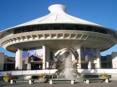 HR McMillan Space Centre (Planetarium) and Museum of Vancouver located in Vanier Park