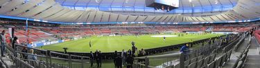 Panoramic view inside BC Place Stadium