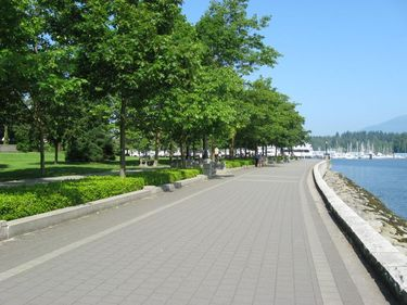 A section of the seawall along our Vancouver Harbourfront Walk