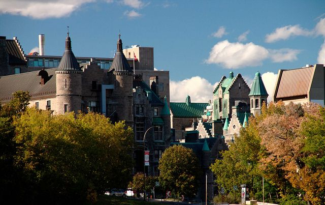 Striking rooflines of the McGill University Campus