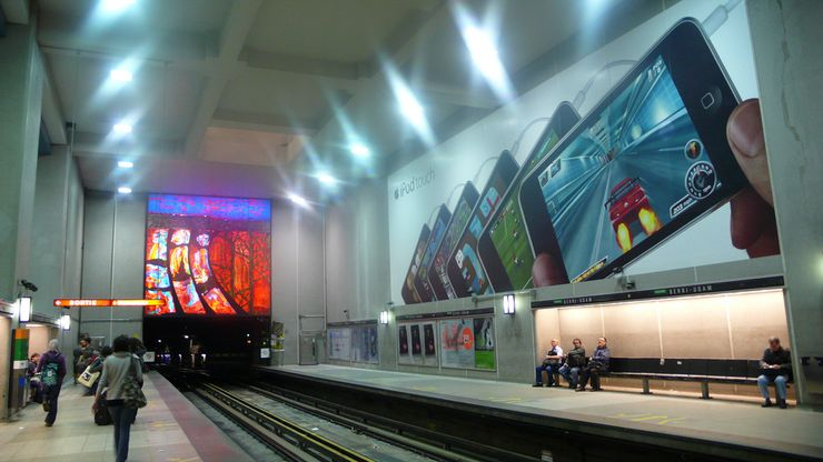 Berri-UQAM Metro Station is a hub for all 3 Metro Lines