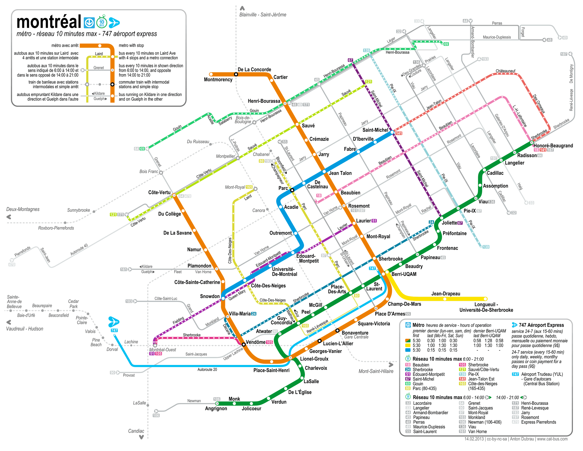 Subway Montreal Map.Montreal Metro Map And System Guide For Travelers