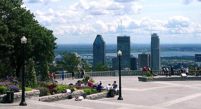 View from the Mont Royal lookout know as belvedere Kondiaronk
