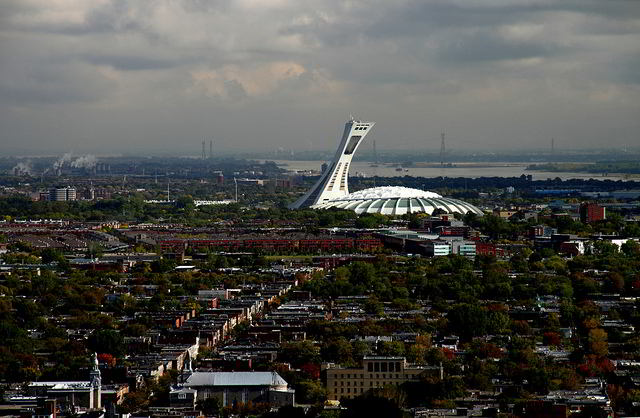 Olympic Stadium and its unique tower are visible from miles around