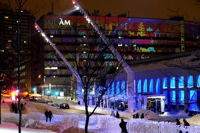 Place des Arts in the Winter - Spectacular