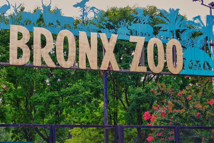 Entrance to New York's famous Bronx Zoo