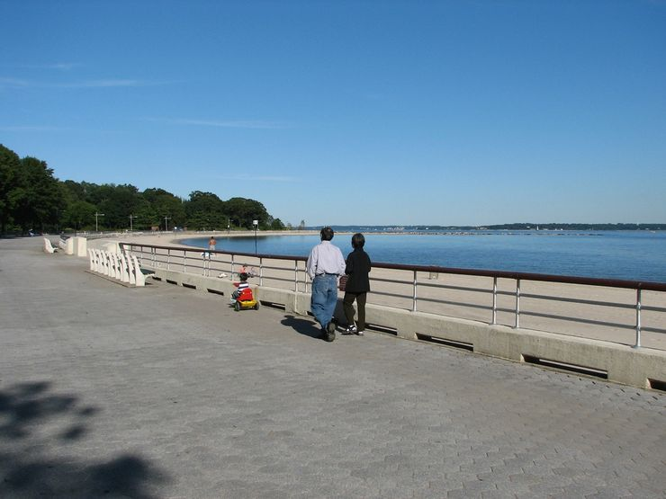 Orchard Beach in the Bronx is one of New Yorks top beaches