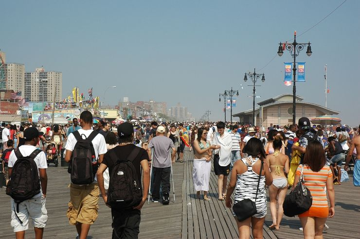 Coney Island Boardwalk on Memorial Day Weekend
