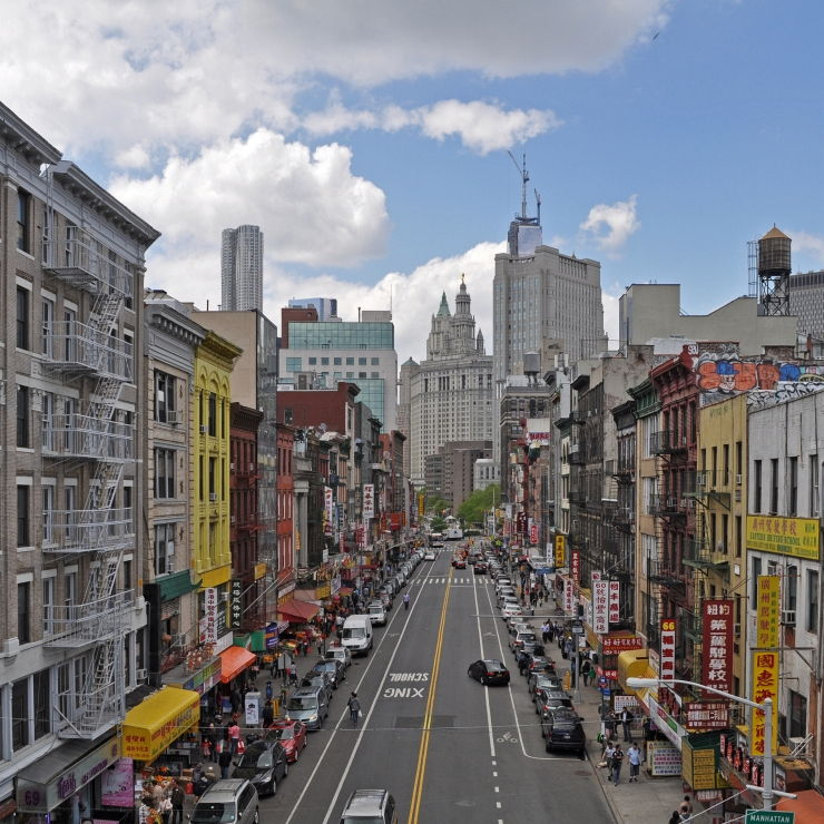 Colourful Street in New York City's Chinatown