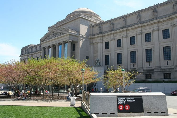 Facade of Brooklyn Museum of Art from Subway Entrance