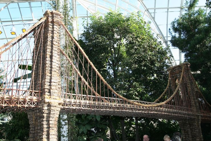 Holiday Train Show Suspension Bridge at the New York Botancial Garden
