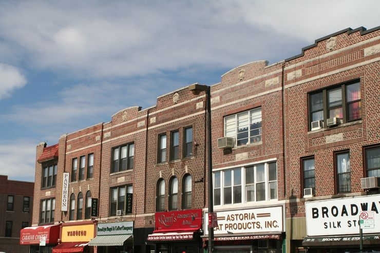 A Row of Shops in Astoria, Queens, NYC