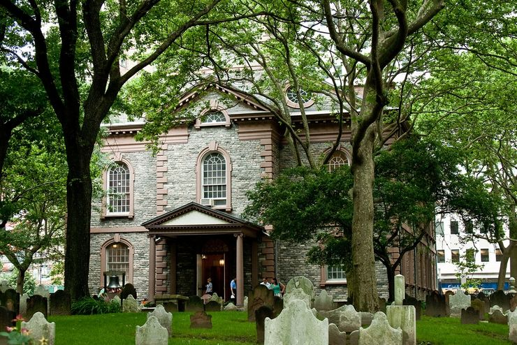 St. Paul's Chapel in downtown Manhattan was built in 1766