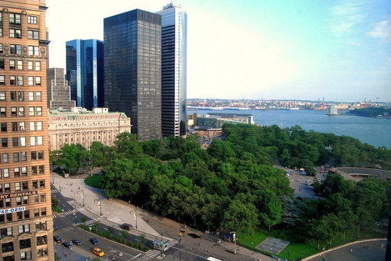 Overlooking Battery Park