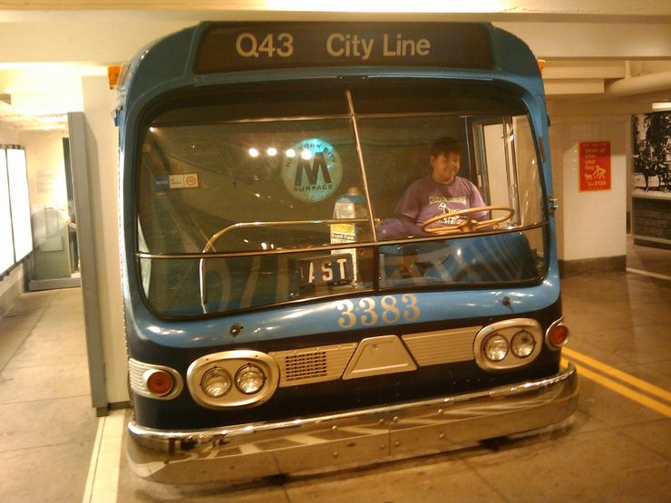 1960s MTA Bus in the New York Transit Museum
