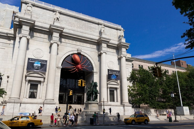 Entrance to New York's famous American Museum of Natural History