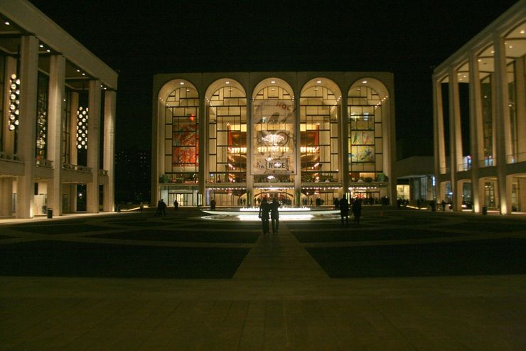 Entrance to the Metropolitan Opera House in New York City