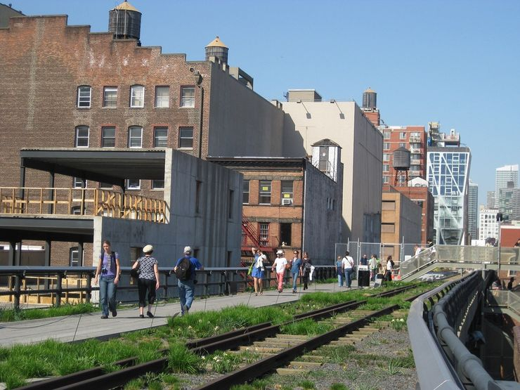 High Line Park through Chelsea New York