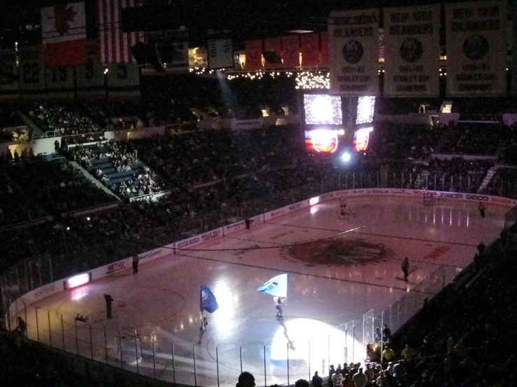 Nassau Coliseum is home to the New York Islanders