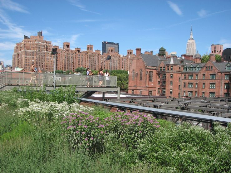 Overlooking some of Manhattan's architecture from High Line Park view point