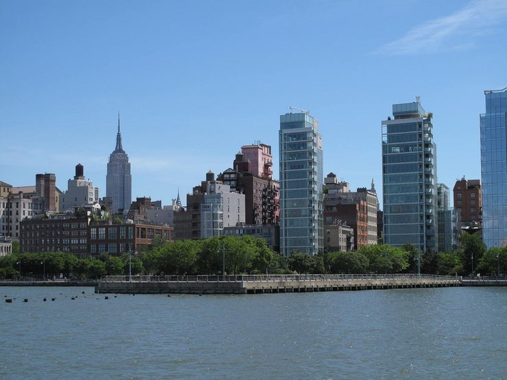 View of Hudson River Park from the River