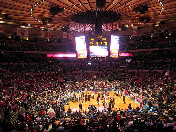 Watching a Game Inside Madison Square Garden
