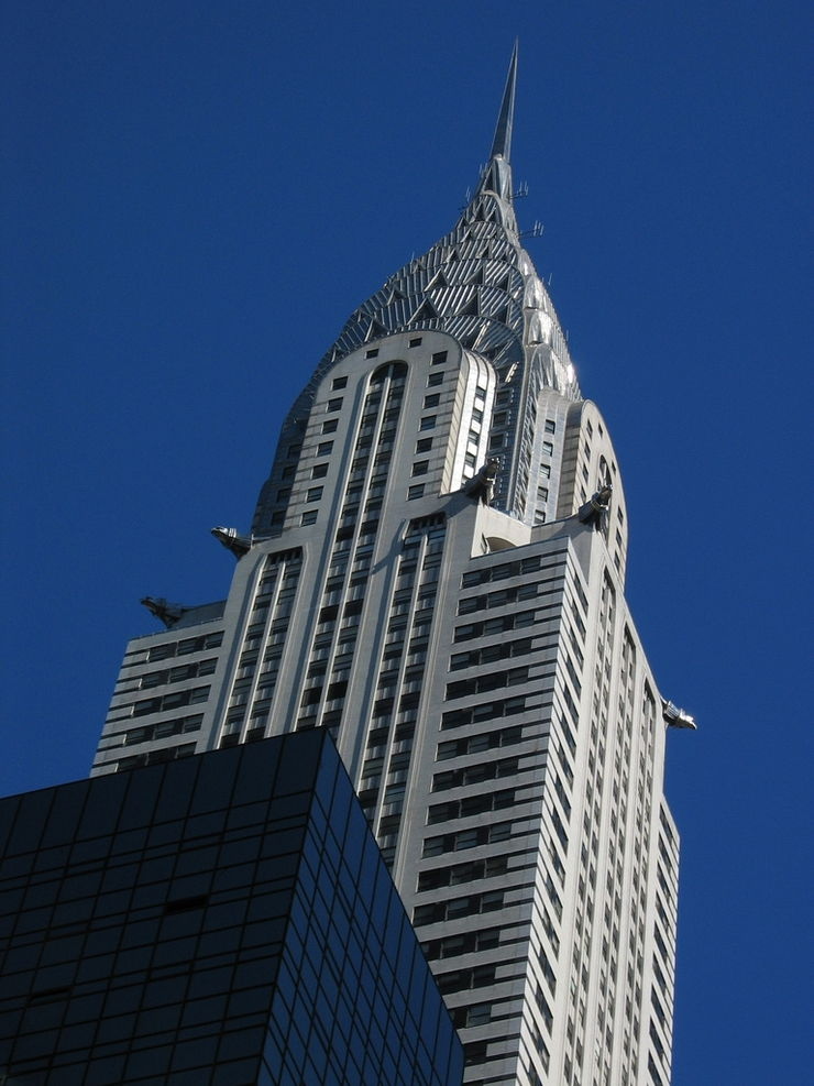 Looking Skyward at New York City's famous Chrysler Building