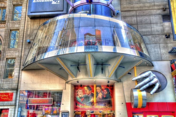 Entrance to Madame Tussauds Wax Museum in Times Square New York